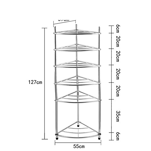 The Shelf In The BathroomStainless SteelFloor To Ceiling Storage Rack-I