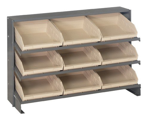 Bench Pick Rack Storage Systems Bin Dimensions 4 H x 11 18 W x 11 58 D qty 9 Bin Color Ivory