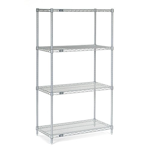 Stainless Steel Wire Shelving 36W x 24D x 63H
