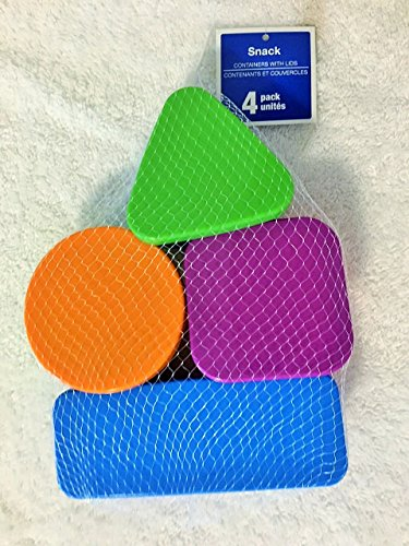 4-pc Setsfun Shapes Snack Containers with Lids Fun Shapes Snack Containers with Lids