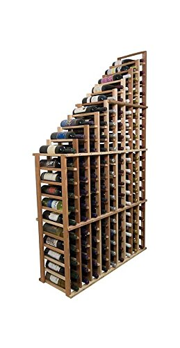Designer Wine Rack Kit - 108 Bottle Tasting Table -Redwood Dark Walnut