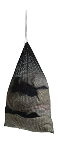 Premium Heavy-Duty Mesh Laundry Bag - Clothes Hamper w Drawstring - Home College Essentials Black 36x24