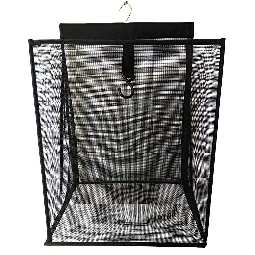 ALYER Hanging Foldable Mesh Laundry HamperLarge Capacity Door-Hanging Laundry Basket and Durable Bathroom Storage BagBlack