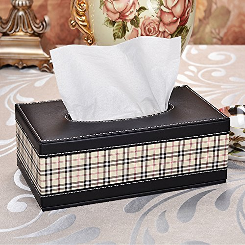 LWJgsa Leather Napkins Cigarette Cartons Creative Home Use Living Room Coffee Table Desktop Storage Paper Pumping Box 255×14× 95Cm N
