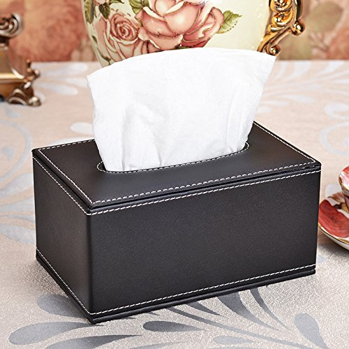 LWJgsa Leather Napkins Cigarette Cartons Creative Home Use Living Room Coffee Table Desktop Storage Paper Pumping Box This 19×12×9Cm