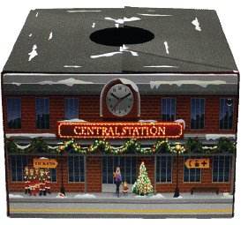 NEW The Original Christmas Tree Box Tree Stand Cover - LED Fiber Optic Lighted Train With AC Plug In Power Cord Size Large 20