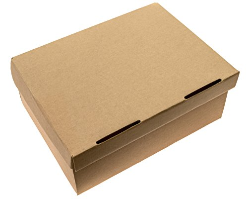 SHOE BOXES - 25 Pack - 125 x 9 x 5 HEAVY DUTY One Piece Design With Lid