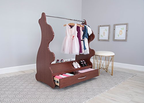 Ace Baby Furniture Rabbit Mobile Dress-Up Clothes and Shoe Organizer Cherry
