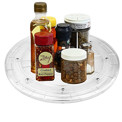 iSKUKA 8'' Spice Organizer 360°Swivels Turntable Lazy Susan for Kitchen Pantry 8 inch