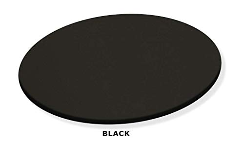 Black Lazy Susan Turntable - Custom Size - Covered in a Black Vinyl Upholstery
