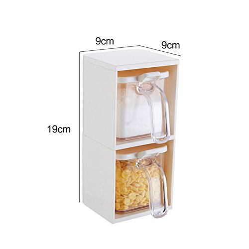 vertical seasoning boxExpandable creative spice jars the kitchen Spice jar kitchen supplies salt shaker scoop-A