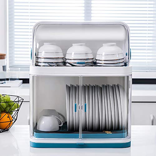 Large Dish Drainer Compact Dish Drying Rack with Removable Drip Tray Utensil Holder Draining Board Dish Rack Drainers for Small Kitchen Countertop WhiteDouble