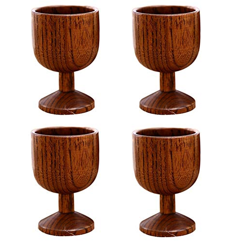 Nrpfell New Wooden Wine Glass Exquisite Solid Wood Wine Glass