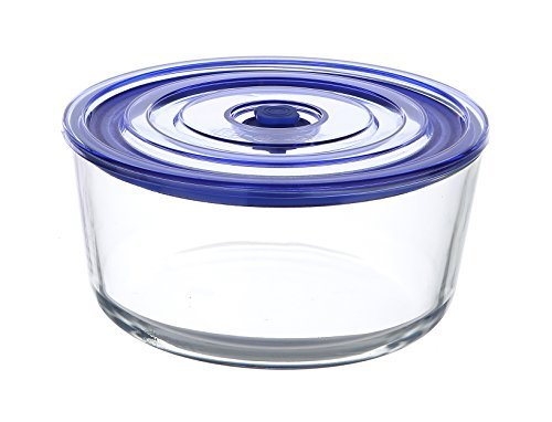 Kinetic Go Green Glasslock Premier Series Round 56-Ounce Food Storage Container with Vacuum Seal Lid 55303 by Kinetic