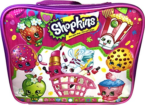 Shopkins Rectangular Lunch Kit Bag Pink 95x75x35 Inches