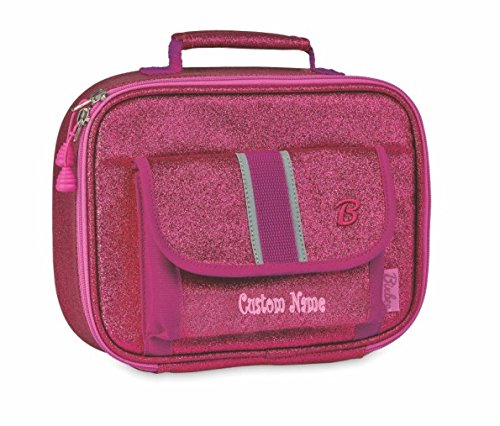 Personalized Bixbee Sparkalicious Kids Insulated Lunchbox - Ruby Raspberry CUSTOM NAME