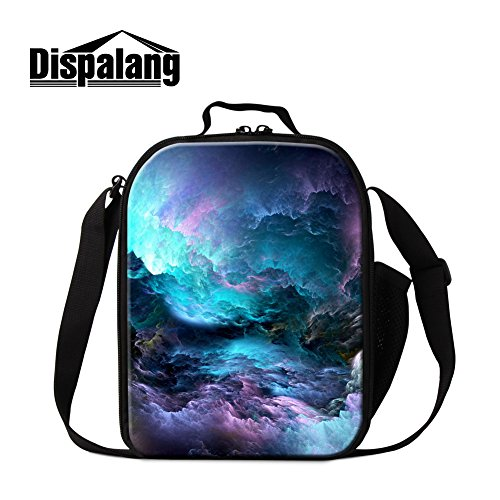 Dispalang Crossbody Galaxy Lunch Bag for Kids Trendy Insulated Cooler Bag for Children