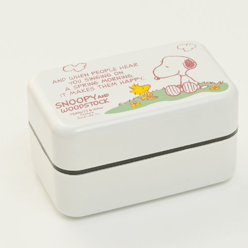Winter ten Kisa shopping Snoopy lunch box  length angle lunch box  White