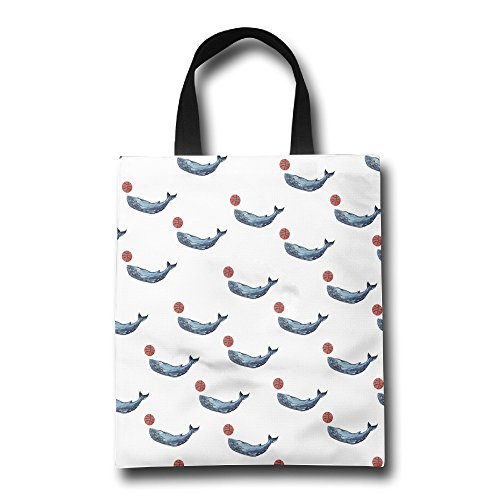 Homlife Whale Pattern Reusable Bag Durable Foldable Tote Bag For Travel Shopping Laptop School Books