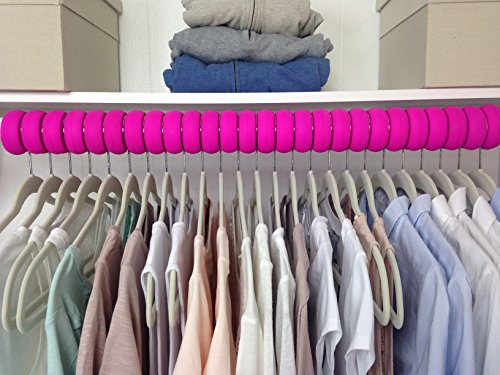 Xangar Clothes Hanger Spacers  Closet Organizer System Pack of 48 Pink