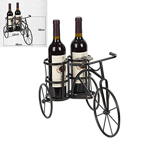 Bicycle Wine Rack Tricycle Wine Rack 2 Bottles Bottle Rack Countertop Wine Rack Tabletop Wine Holder for 7 Bottle Free-Standing Wine Holder Bottle Rack for Home Bar Cafe Restaurant