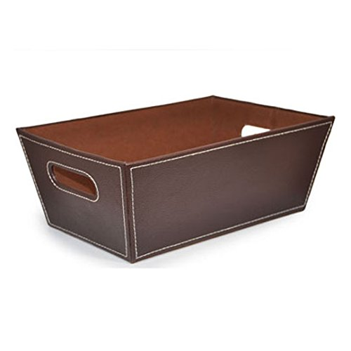 The Lucky Clover Trading Roosevelt Faux Leather Utility BasketSmall Brown