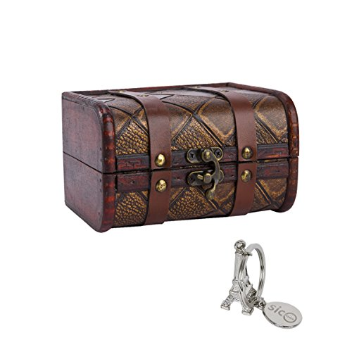 SiCoHome Small Trunk Box59 inch Vintage Jewelry Storage Organizer for Gift and Decorative Box