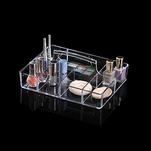 OnDisplay Deluxe Acrylic Rectangle CosmeticJewelry Organization Tray