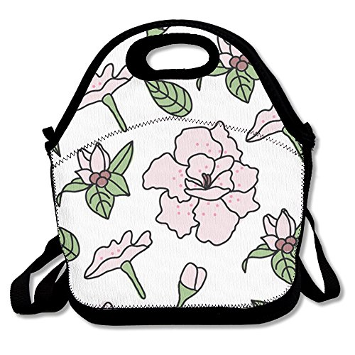 Rhododendron Nature Floral Lunch Bag Fits For School Travel Outdoor