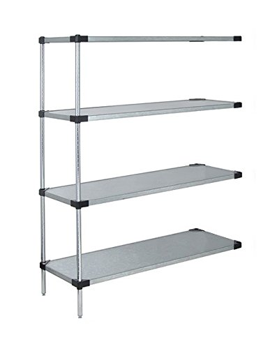 Quantum Storage Systems Solid 4-shelf Add-on Unit - 14 x 72 x 63 - Stainless Steel
