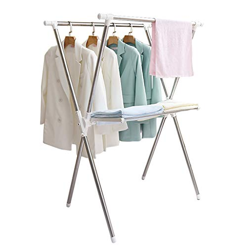 ZK Stainless Steel Household Drying Racks Portable Clothes Rack96-146 65 135CM