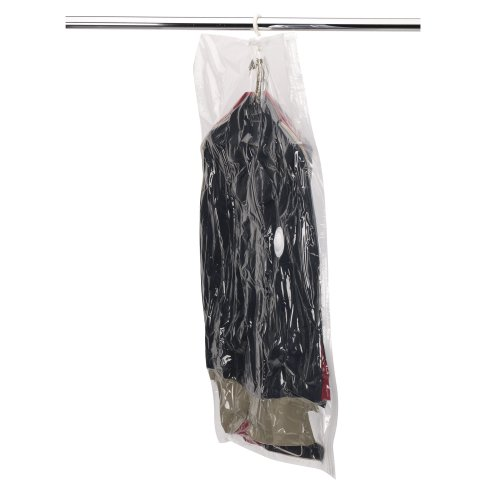 Household Essentials 4515 MightyStor Hanging Garment Bag  Suit and Jacket Protector  Vacuum Storage