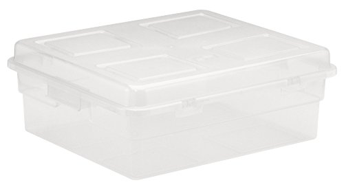 United Solutions Clear Plastic Storage Container with Lid 20-Quart