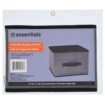 Grey and Black Trendy Collapsible Storage Container Drawer With Handles