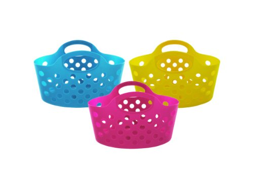 Bulk Buys UU366-48 Plastic Storage Basket With Handles