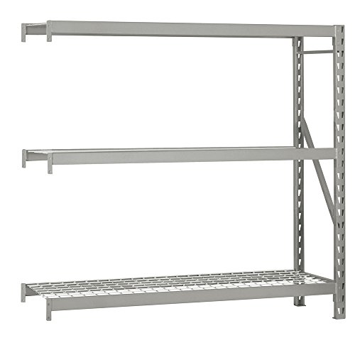 Edsal ERX962496A NSF Approved Welded Frame Food Safe Rack Add-On Type 3 Shelves 1500 lb Capacity 96 W x 24 D x 96 H Silver