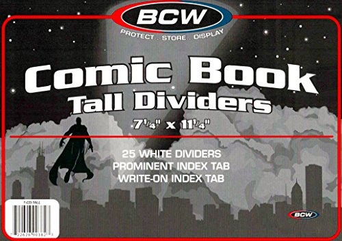 2 Packs of 25 Tall Comic Book Dividers For Comic Book Storage Boxes