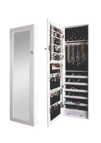 BTExpert Premium Wooden Jewelry Armoire Wall Mount Cabinet