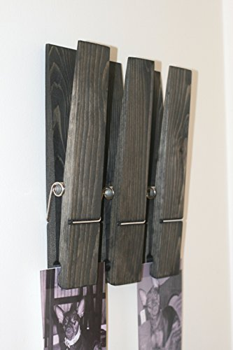 Set Of Three Extra Large Clothespins Rustic Jumbo 12 Clothespin