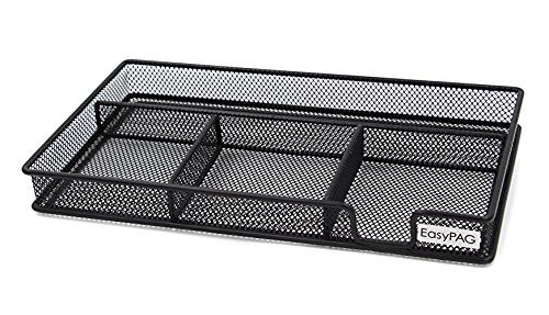 EasyPAG Mesh Collection Desk Accessories Drawer Organizer 115 x 625 x 125 inch Black