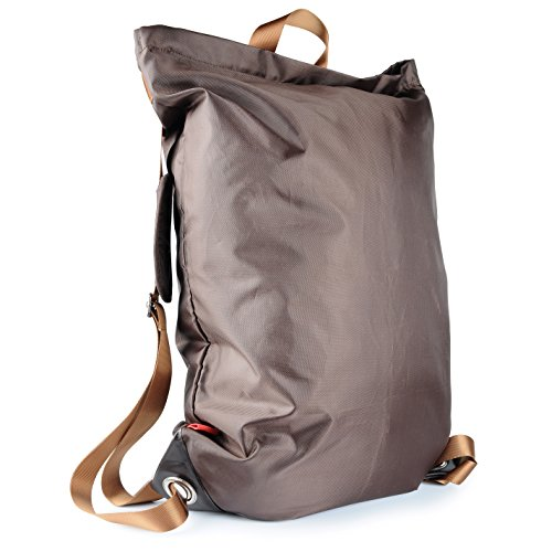 """Large Laundry Bag『28""""X22""""』 VDS Large Laundry Backpack with Adjustable Shoulder Straps Durable Nylon Carry Clothes Bag Laundromat Bag for College Students Apartment Dorm Gym Sports Camping BagBrown"""