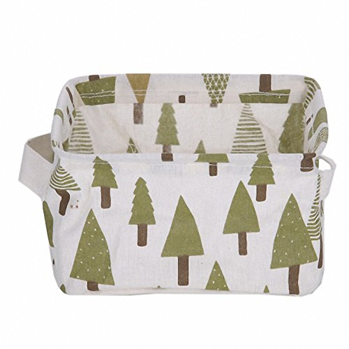 Colorful Laundry Box Cotton And Linen Handle Desk Debris Cute Storage Basket Fashion Style Convinence Holder Jewelry Cosmetic Tree