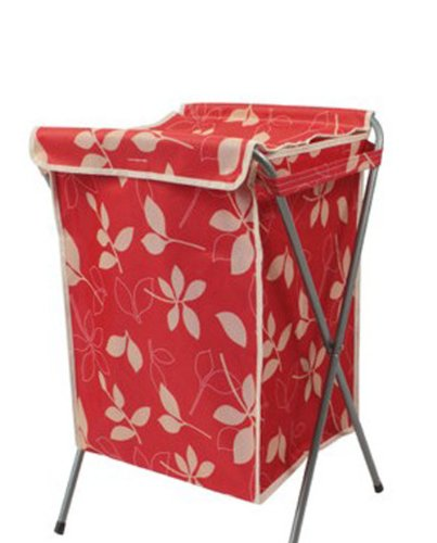 Household Essentials Foldable Laundry Basket With A Cover664035cm RED