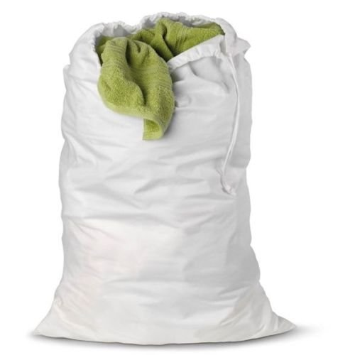 1 New Heavy Duty White Commercial Laundry Bag College Gym Laundry Bag 30x40