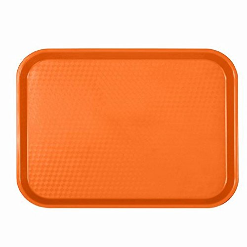 CAFETERIA TRAYS - FAST FOOD TRAY - CAFE - LUNCH - PLASTIC TRAYS ASSORTMENT OF COLORS 12 X 16 14 Orange