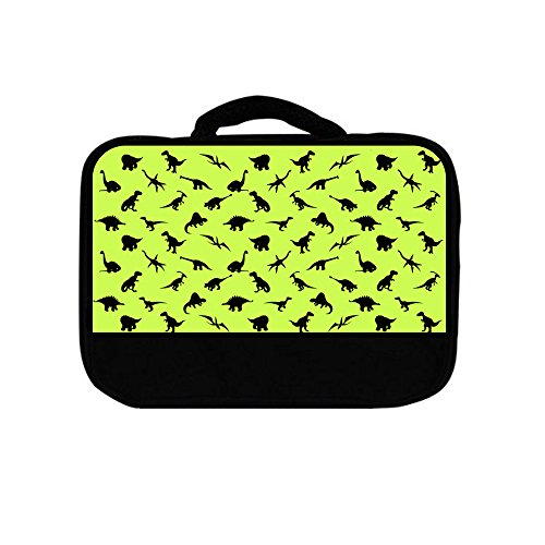 Dinosaurs Cartoon Green Lunch Box Bags for Kids Boys and Girls