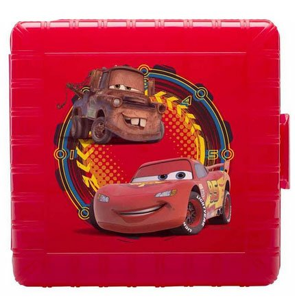 Disney Pixar Cars Lightning McQueen Mater Kids Lunch Container Gopak Plastic Lunch Container with Sandwich Snack Compartments