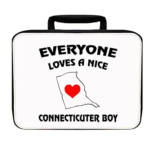 Everyone Loves A Nice Connecticuter Boy Insulated Lunch Box Bag