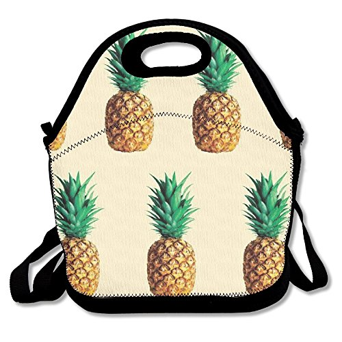 ZDTSQWY Lunch Boxes Fresh Pineapple Lunchbox Food Container Lunch Tote Handbag Cool Fashion Designer Lunch Box For Work Office School