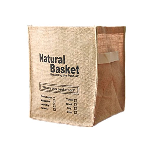 Creative Foldable Linen Storage Box  Debris Finishing  Clothes Storage Bag Natural Basket